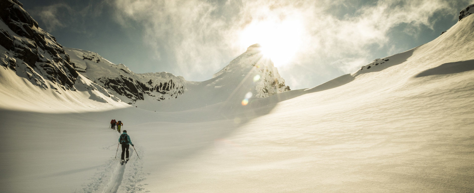Skitourenreisen Norwegen Lofoten Aufstieg Geitgaljetind