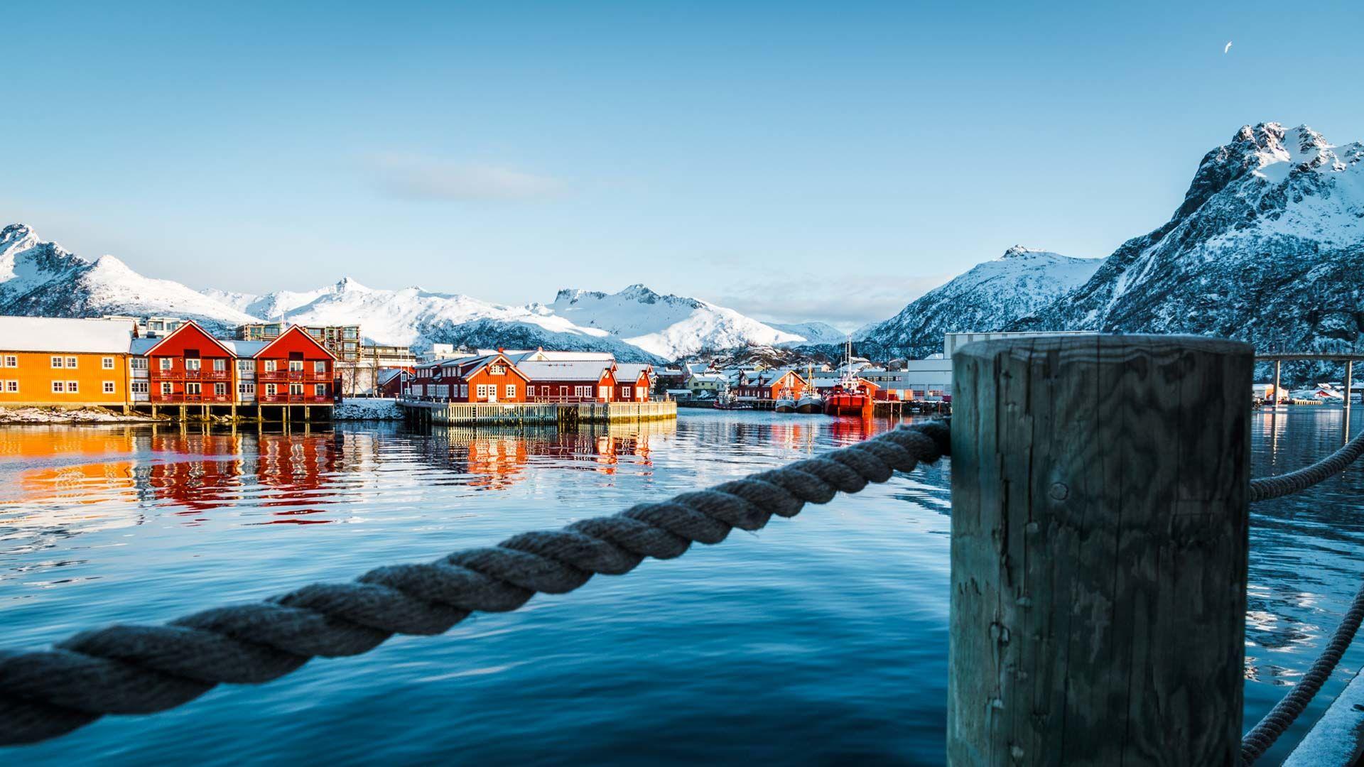 Unterkunft Auf Den Lofoten In Svolvaer Fuer Die Skitourenreise