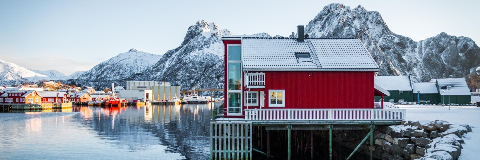 Unterkunft Fuer Skitouren Auf Den Lofoten